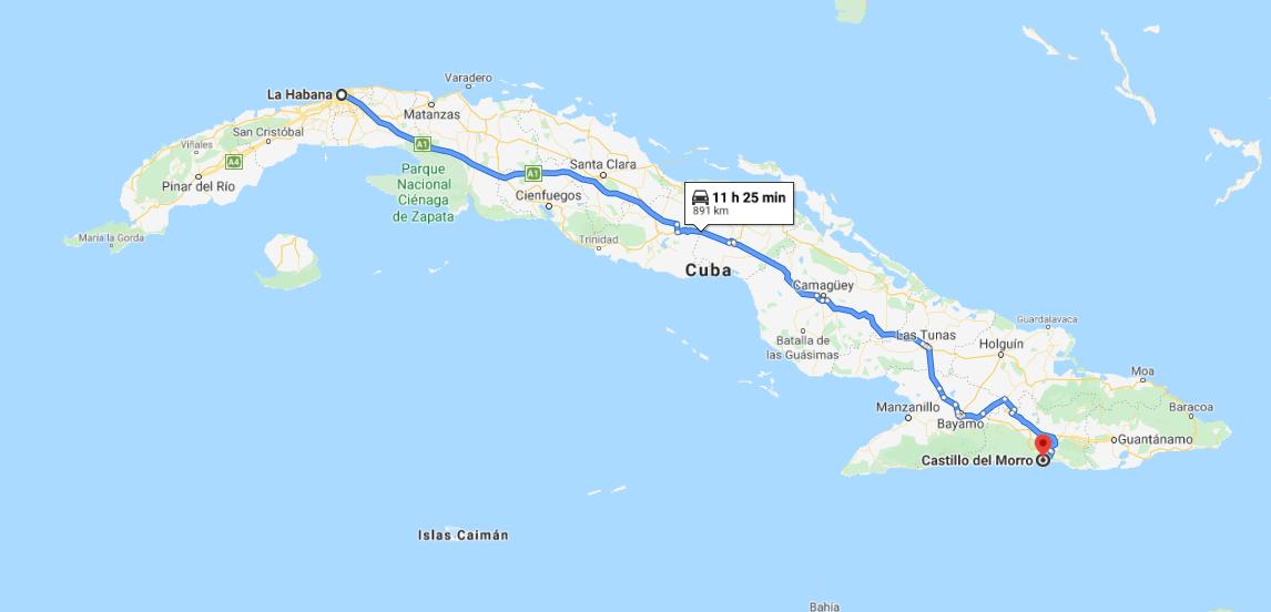 Cómo llegar a Castillo de San Pedro de la Roca del Morro, Cuba