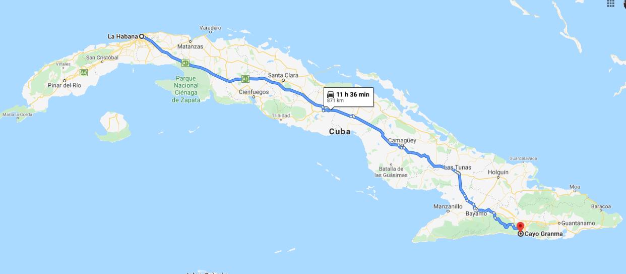 Cómo llegar a Cayo Granma, Cuba