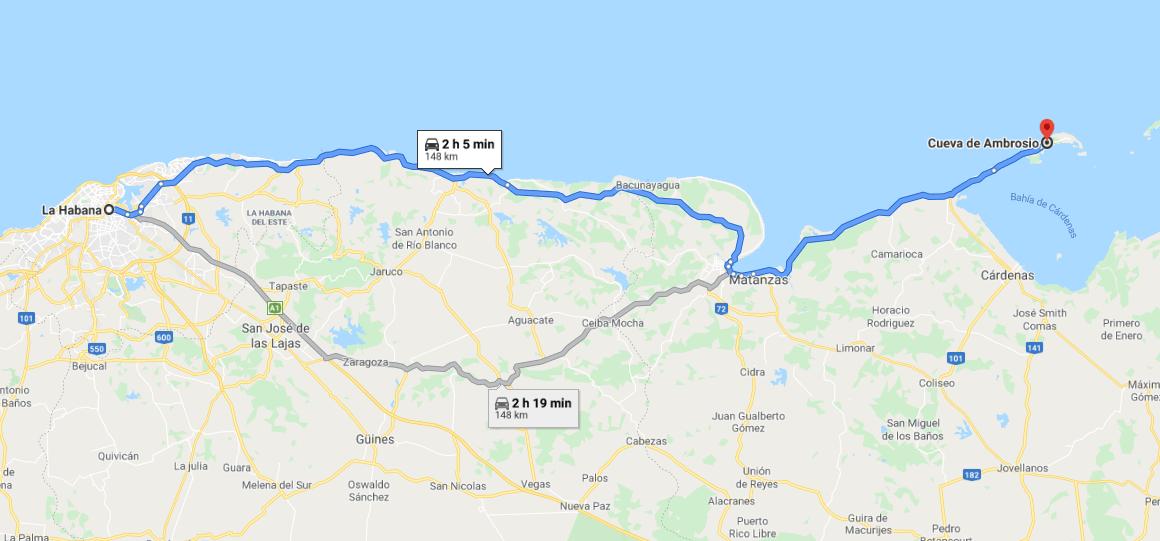 Cómo llegar a Cueva de Ambrosio Cuba