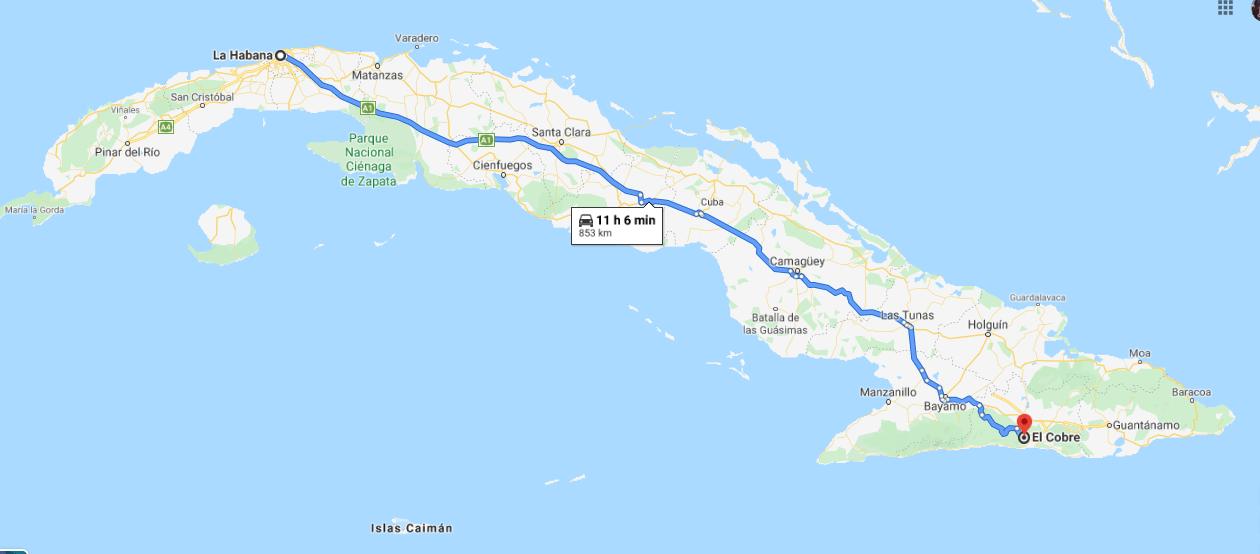 Cómo llegar a El Cobre, Cuba