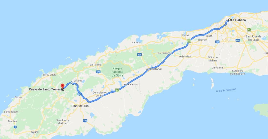 Cómo llegar a la Gran Caverna de Santo Tomás, Cuba