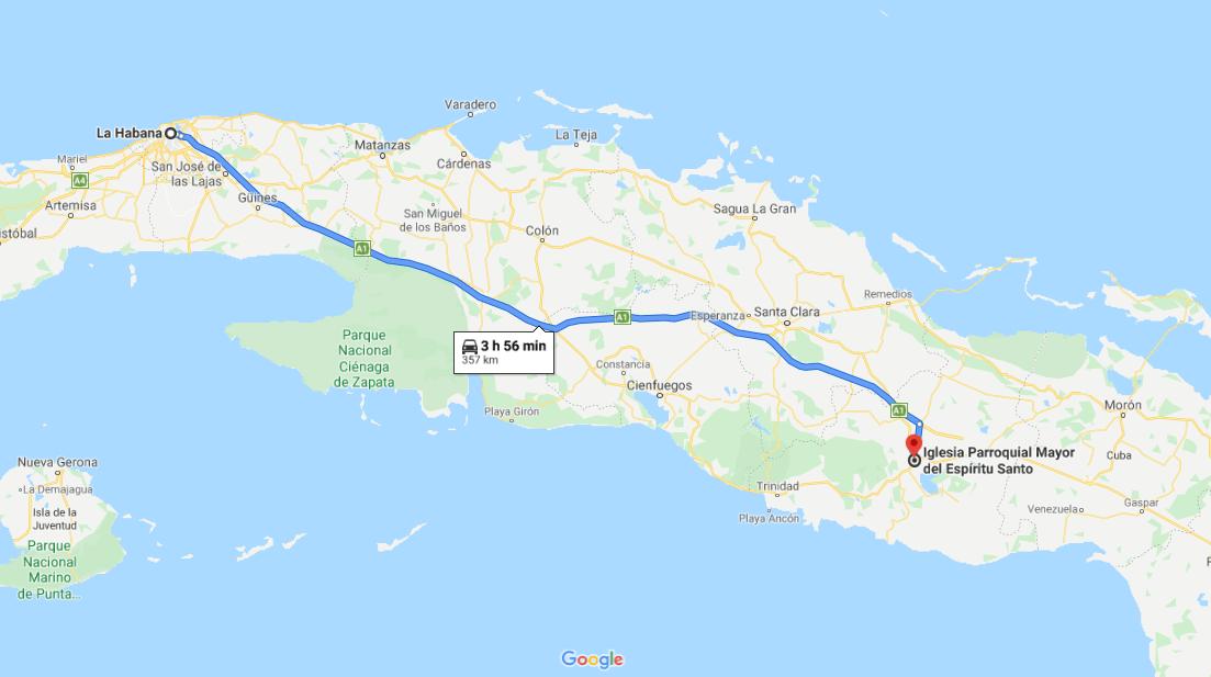 Cómo llegar a la Iglesia parroquial Mayo,r Cuba