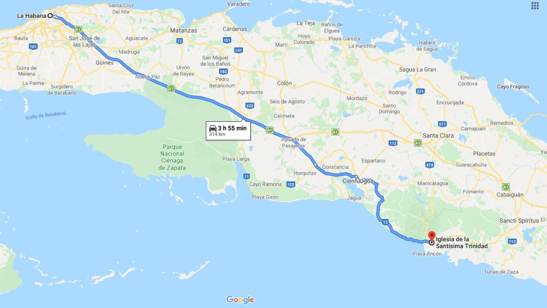 Cómo llegar a la Iglesia Mayor de la Santísima Trinidad, Cuba