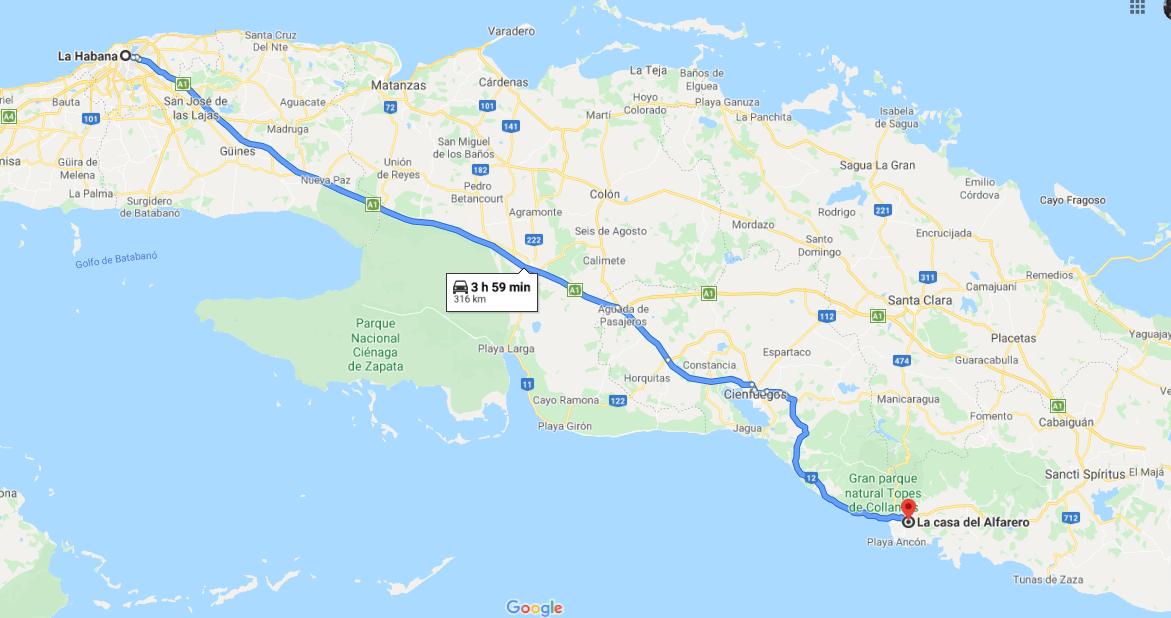 Cómo llegar a La Casa del Alfarero Cuba