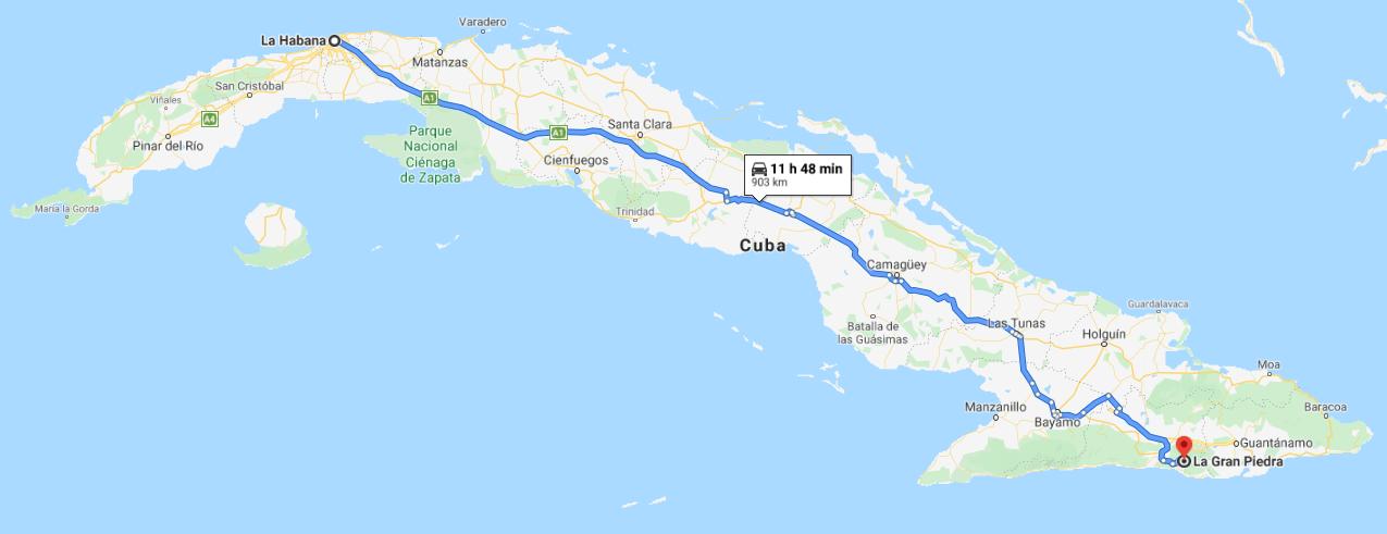 Cómo llegar a La Gran Piedra Cuba