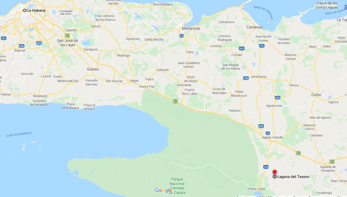 Cómo llegar a Laguna del Tesoro, Cuba