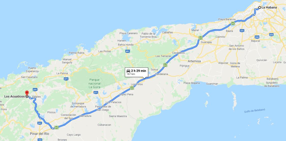 Cómo llegar a Los Acuáticos, Cuba
