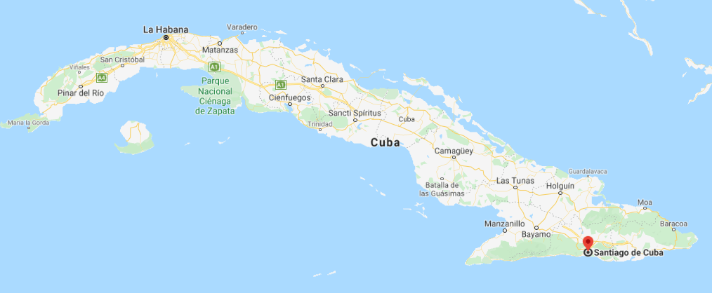 Dónde está ubicado Santiago de Cuba, Cuba
