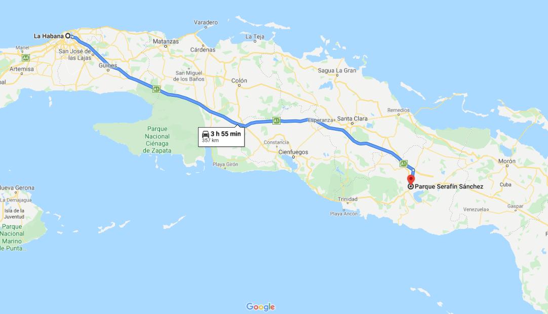 Cómo llegar a Parque Serafín Sánchez, Cuba