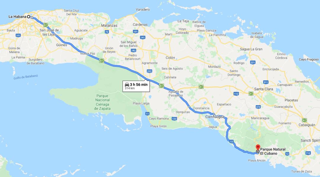 Cómo llegar al Parque el Cubano, Cuba