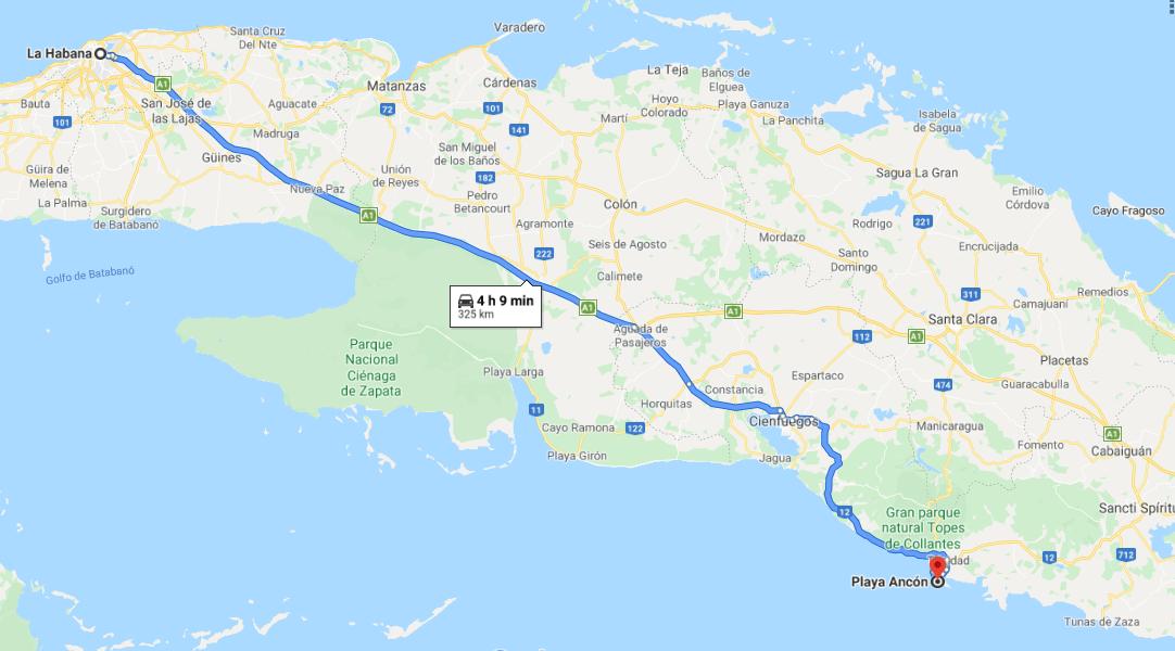 Cómo llegar a la Playa Ancón, Cuba