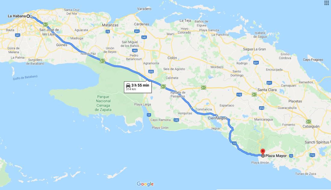 Cómo llegar a Plaza Mayor, Cuba