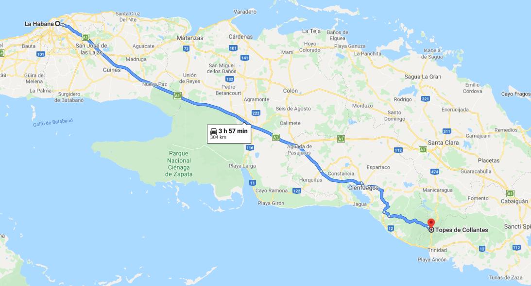 Cómo llegar a Topes de Collantes, Cuba