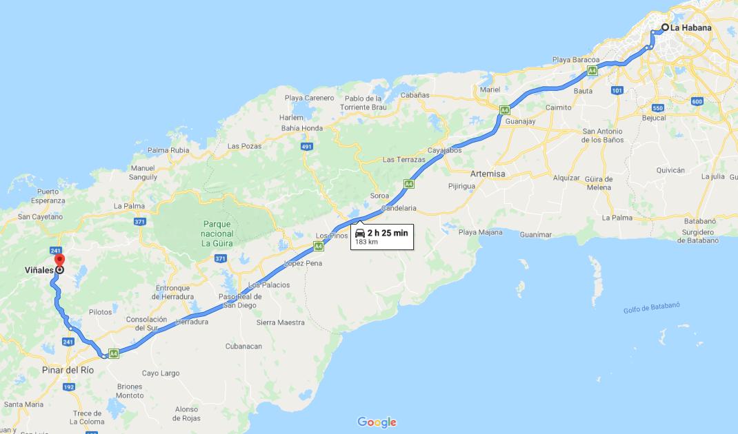 Cómo llegar a la Ciudad de Viñales, Cuba